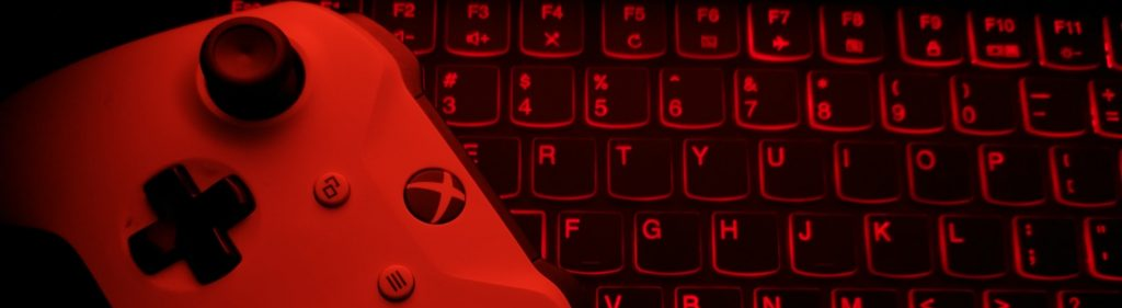 Scary red keyboard